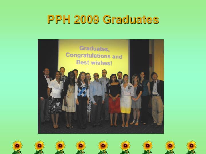 PPH 2009 Graduates