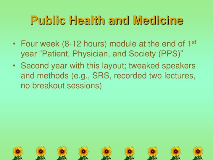 Public Health and Medicine