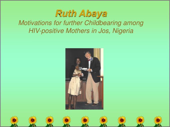 Ruth Abaya