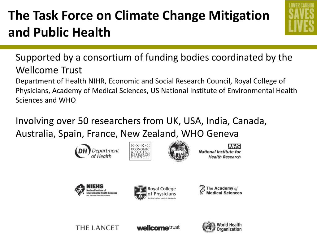 The Task Force on Climate Change Mitigation