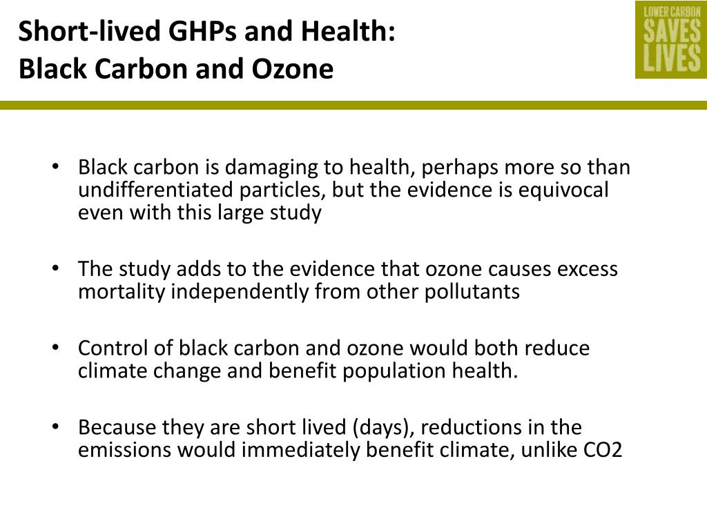 Short-lived GHPs and Health: