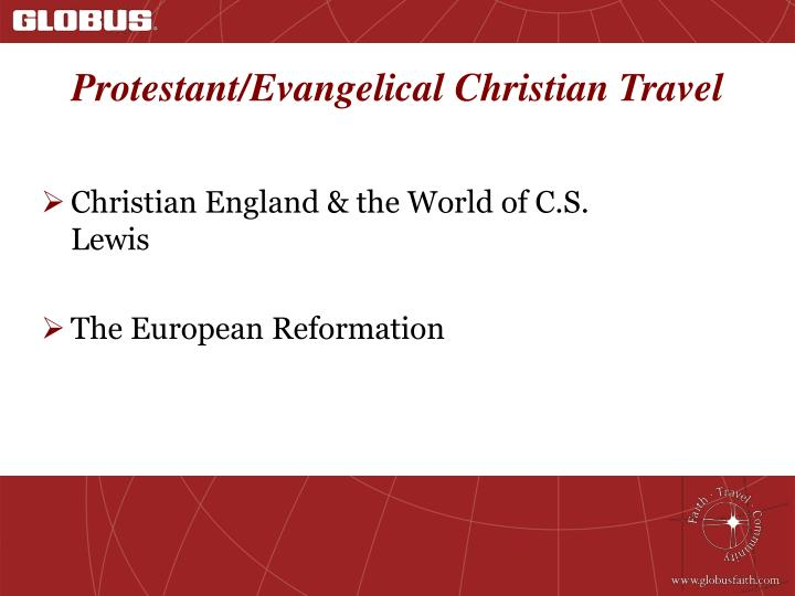 Protestant evangelical christian travel