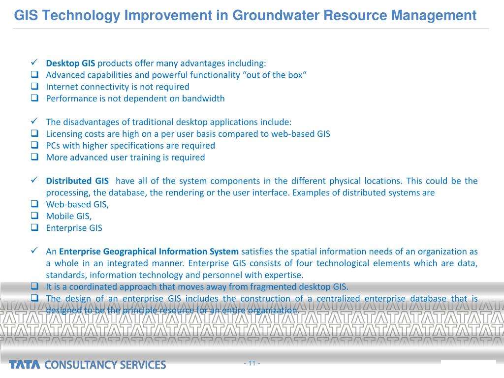 GIS Technology Improvement in Groundwater Resource Management