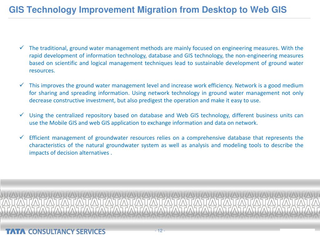 GIS Technology Improvement Migration from Desktop to Web GIS