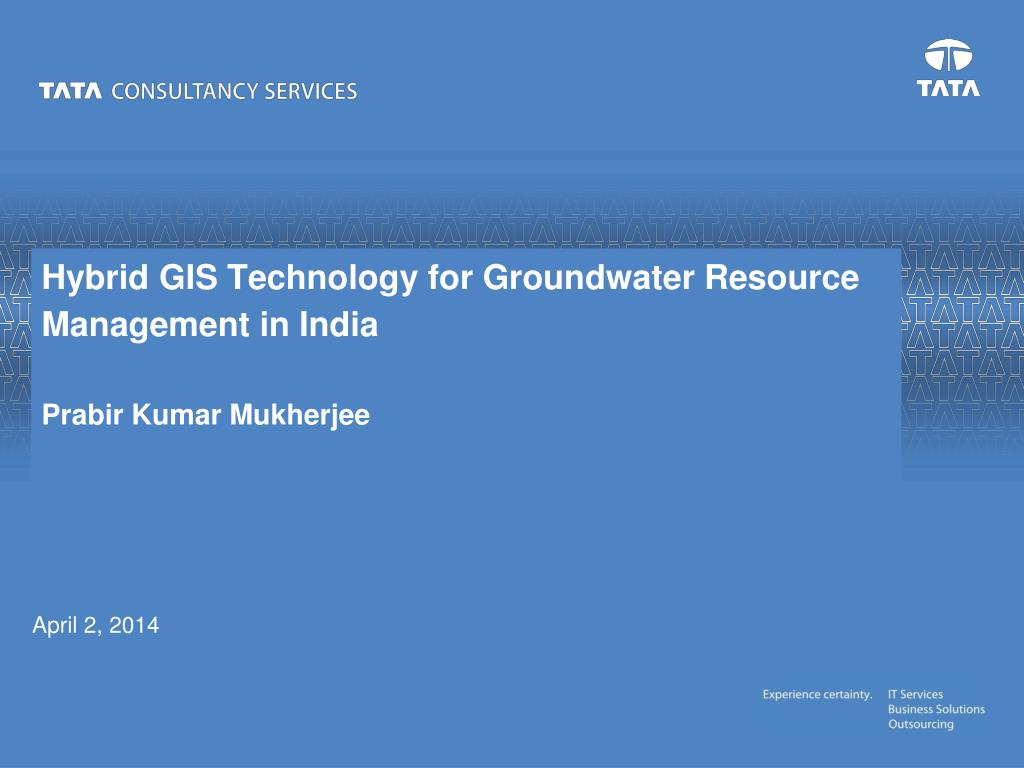 Hybrid GIS Technology for Groundwater Resource Management in India