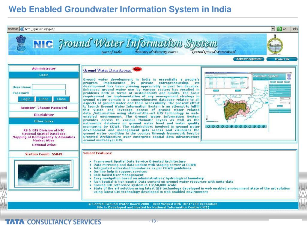 Web Enabled Groundwater Information System in India