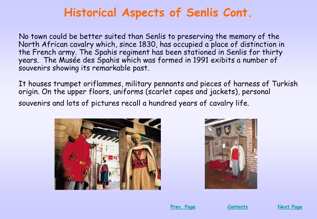 Historical Aspects of Senlis Cont.