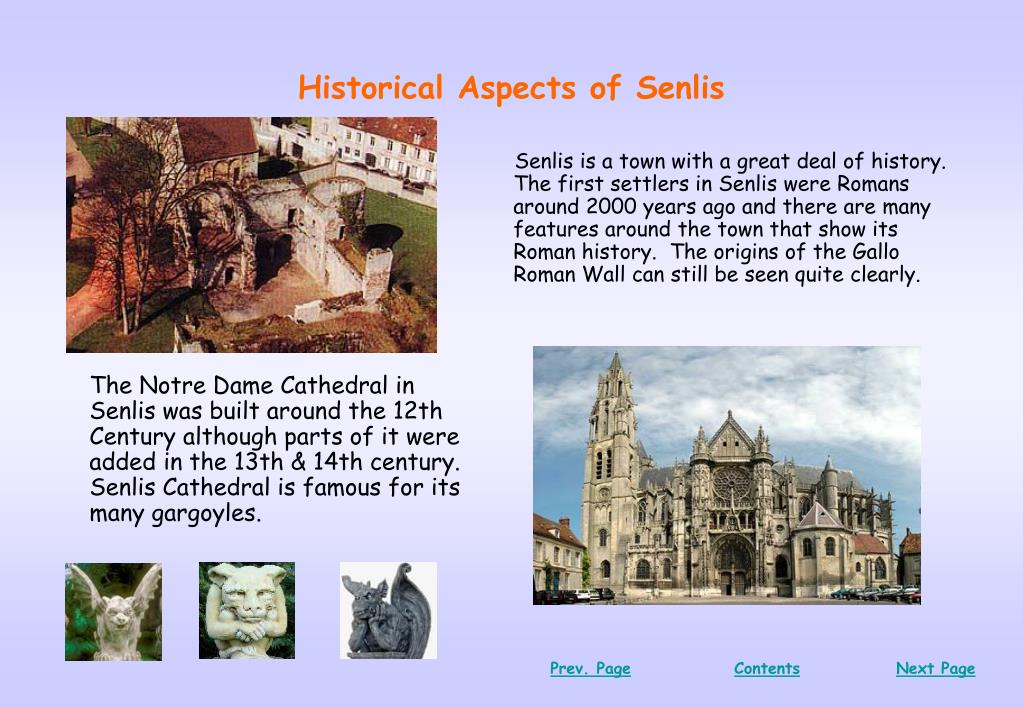 Historical Aspects of Senlis
