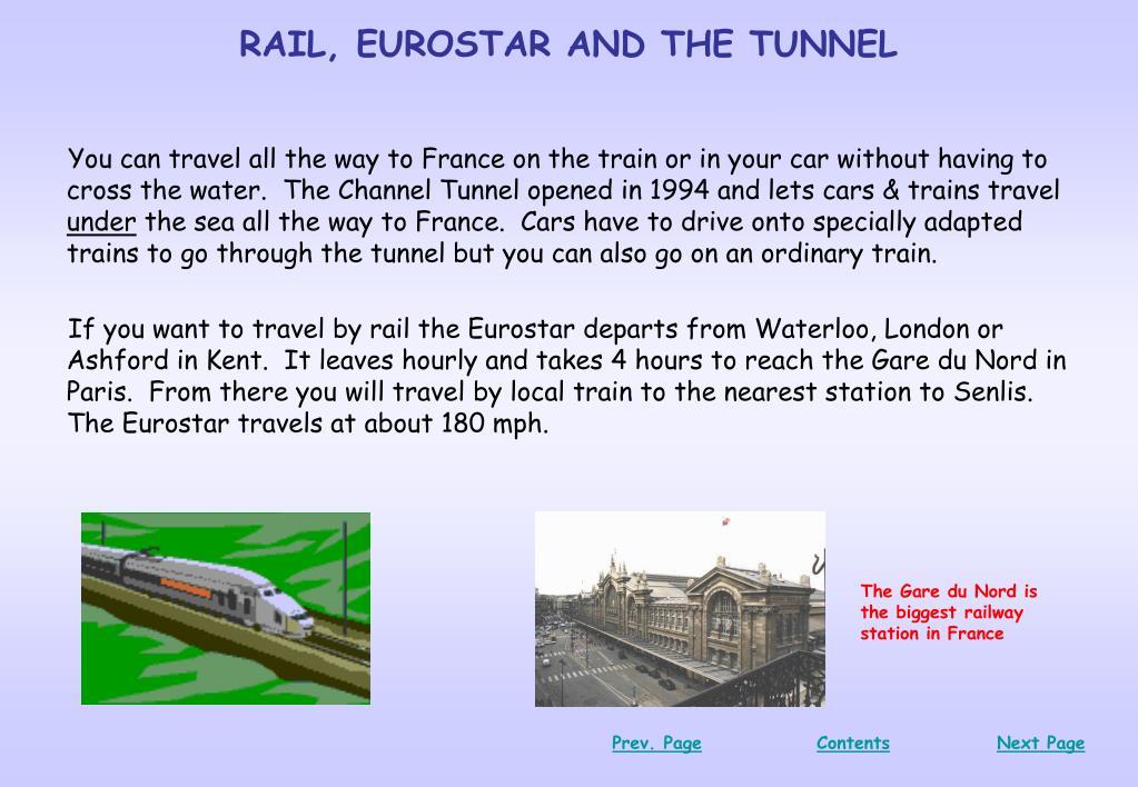 RAIL, EUROSTAR AND THE TUNNEL