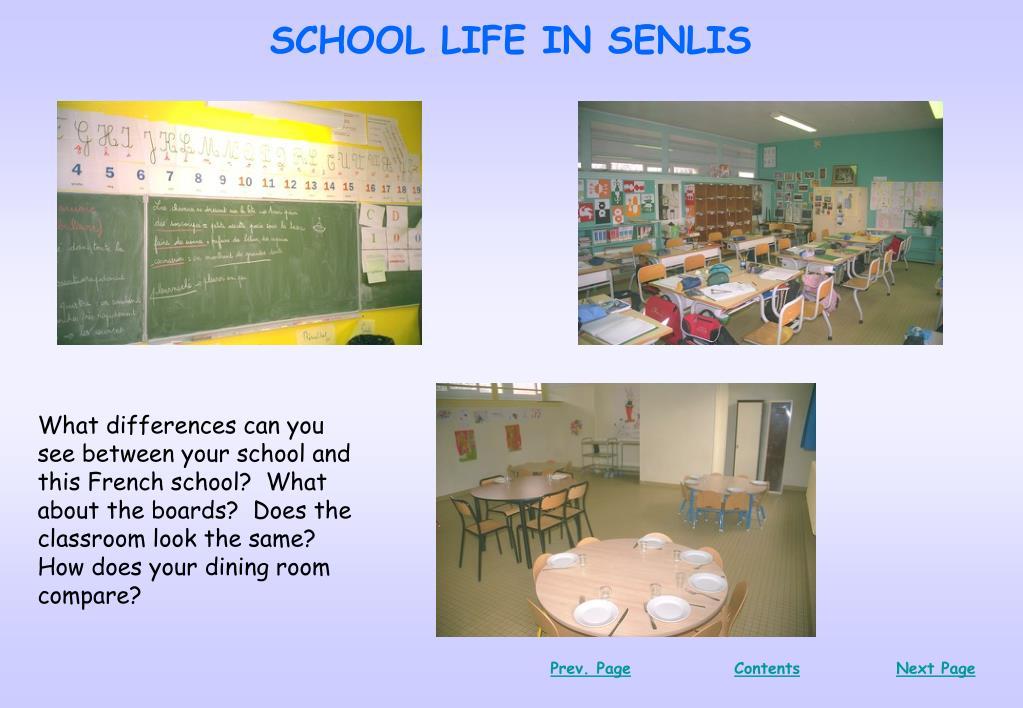 SCHOOL LIFE IN SENLIS