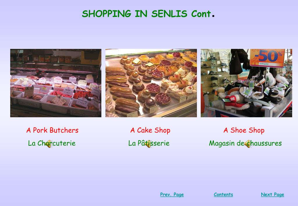 SHOPPING IN SENLIS Cont