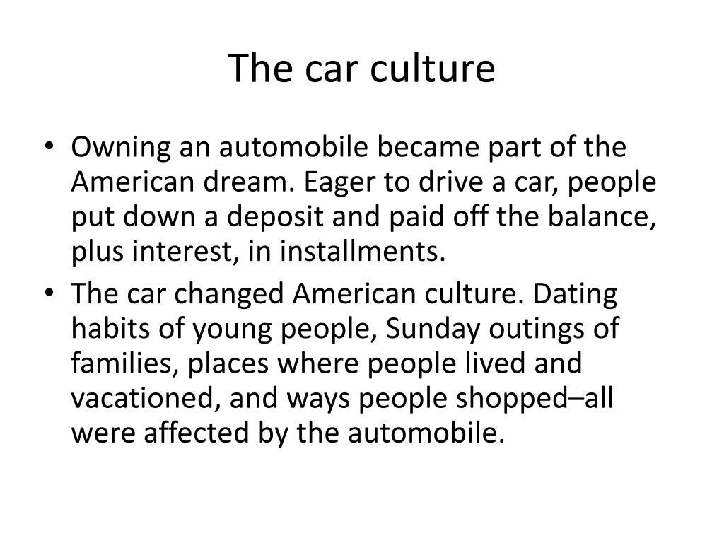 The car culture