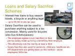 loans and salary sacrifice schemes