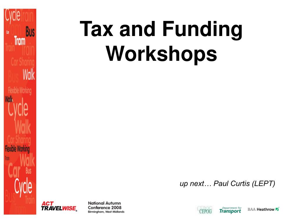 Tax and Funding