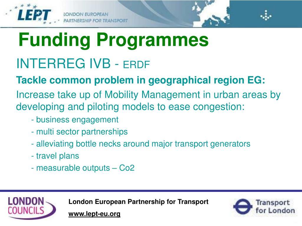 Funding Programmes