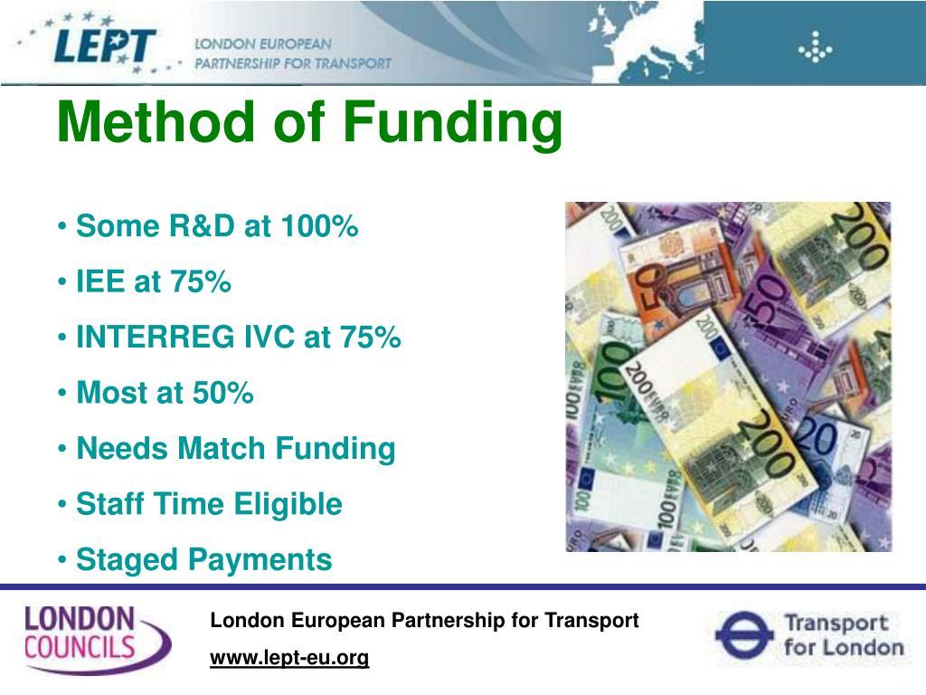 Method of Funding