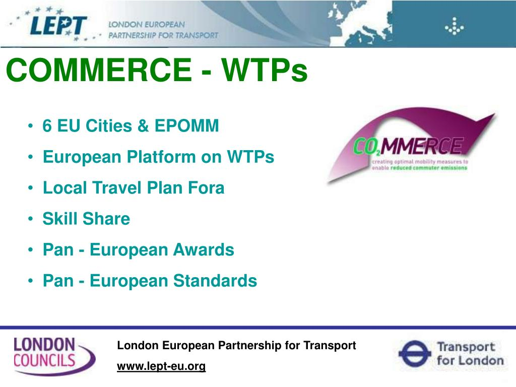 COMMERCE - WTPs