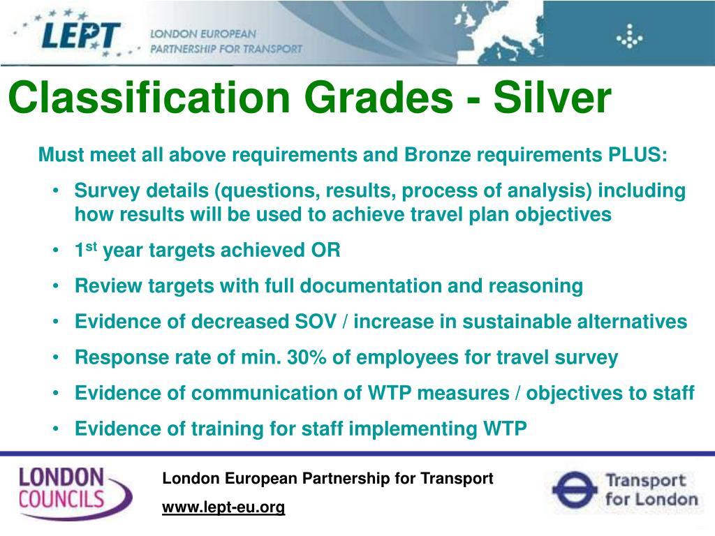 Classification Grades - Silver
