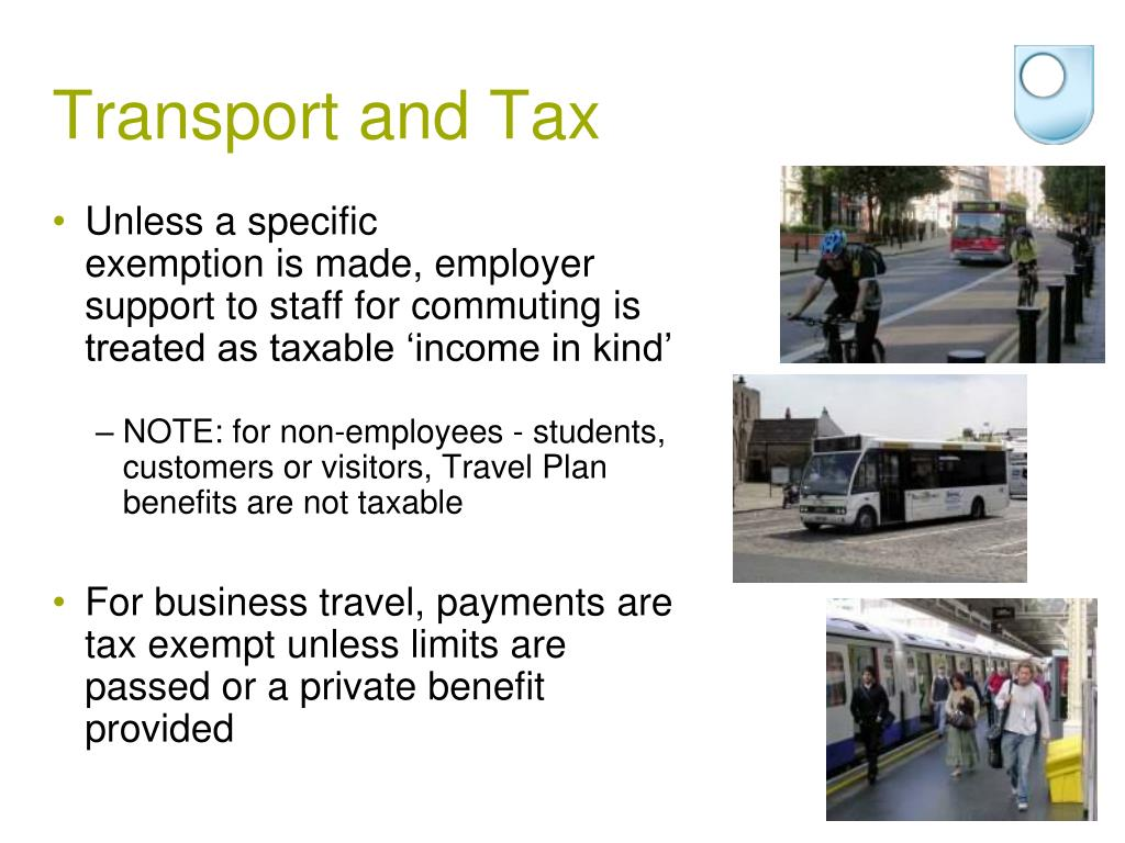 Transport and Tax