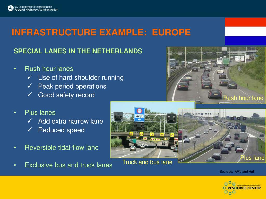 INFRASTRUCTURE EXAMPLE:  EUROPE