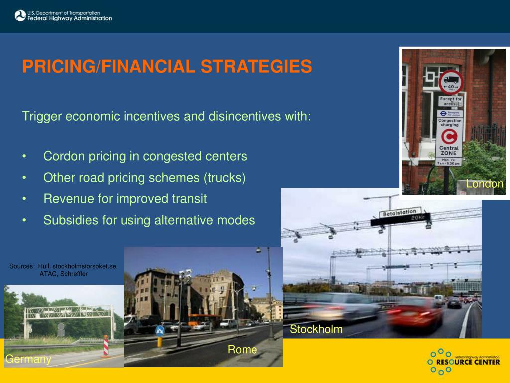 PRICING/FINANCIAL STRATEGIES