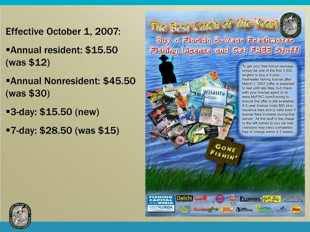 Effective October 1, 2007: