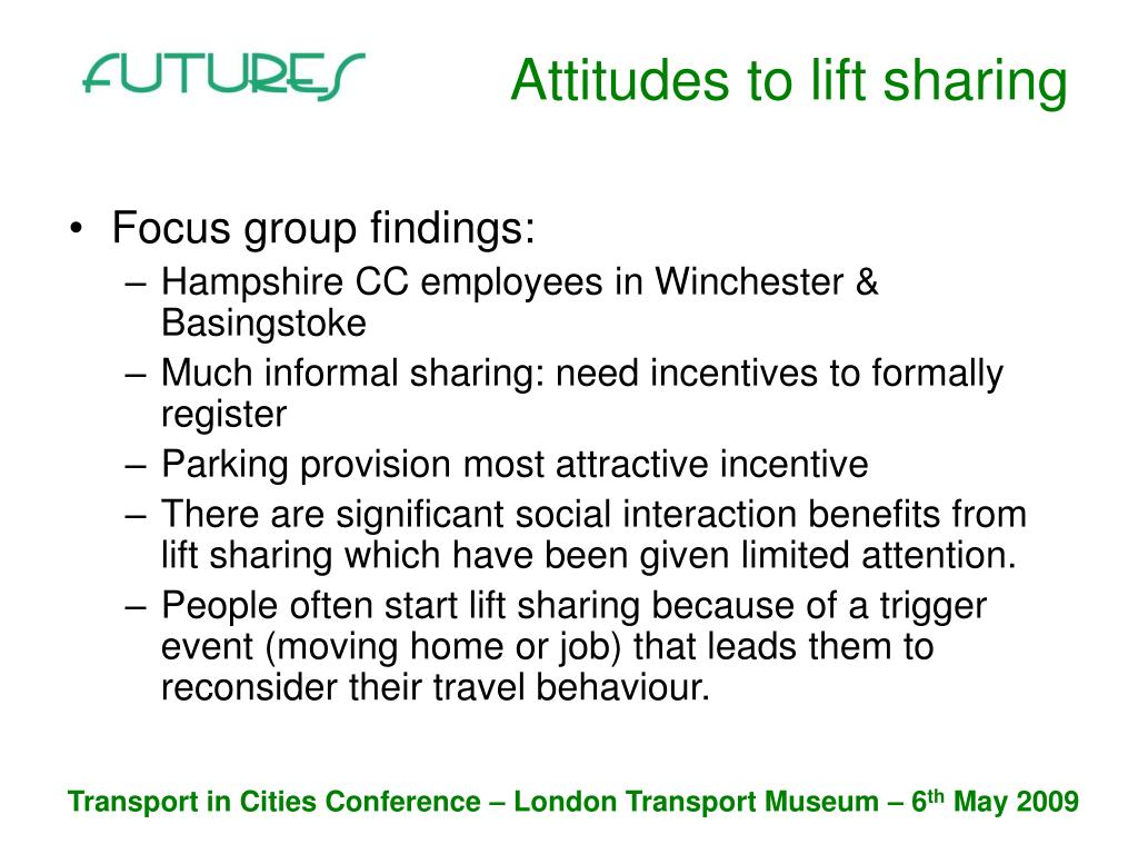 Attitudes to lift sharing