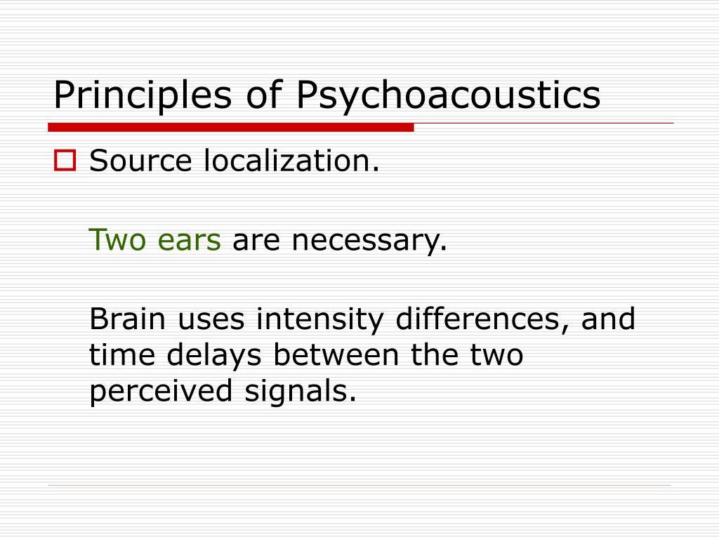Principles of Psychoacoustics