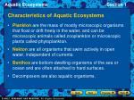 characteristics of aquatic ecosystems7
