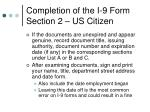 completion of the i 9 form section 2 us citizen3