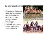 economic recreational importance