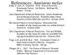 references ameiurus melas