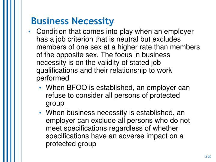 Business Necessity