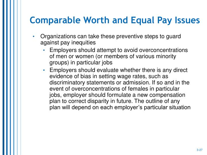 Comparable Worth and Equal Pay Issues