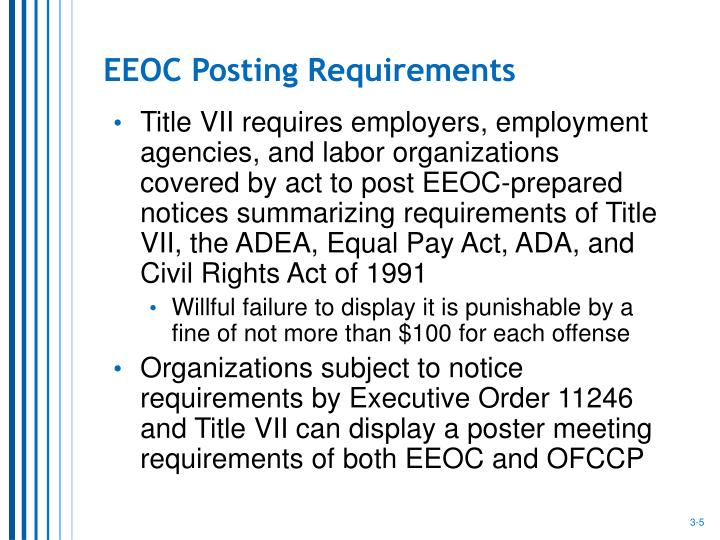 EEOC Posting Requirements