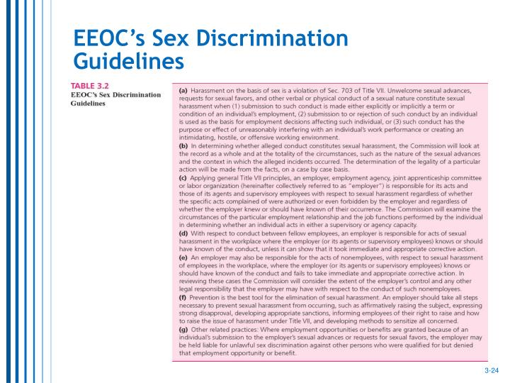 EEOC's Sex Discrimination