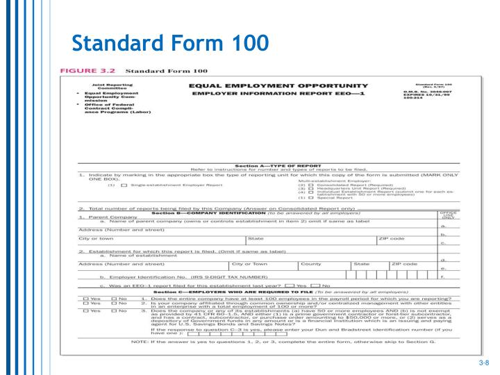 Standard Form 100
