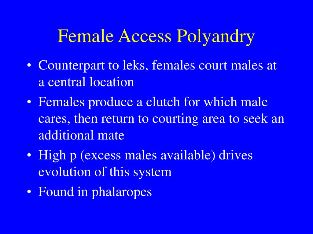 Female Access Polyandry