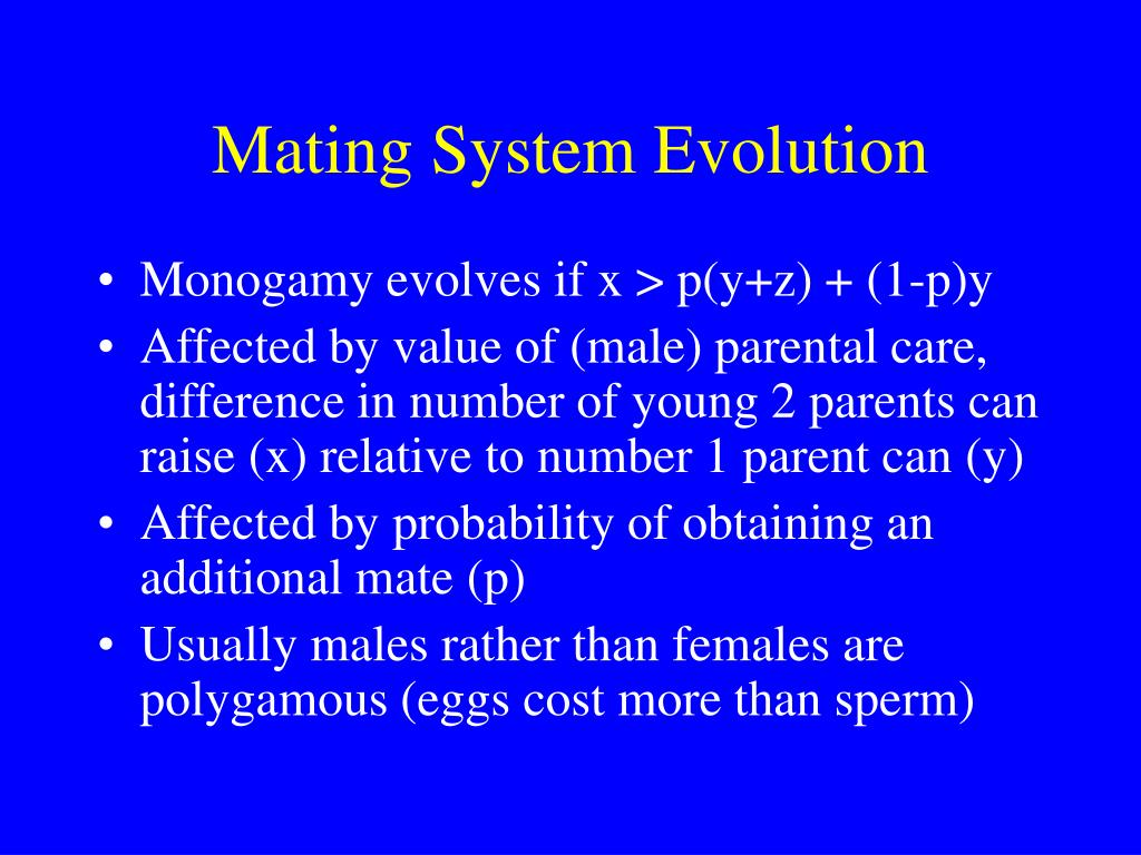 Mating System Evolution