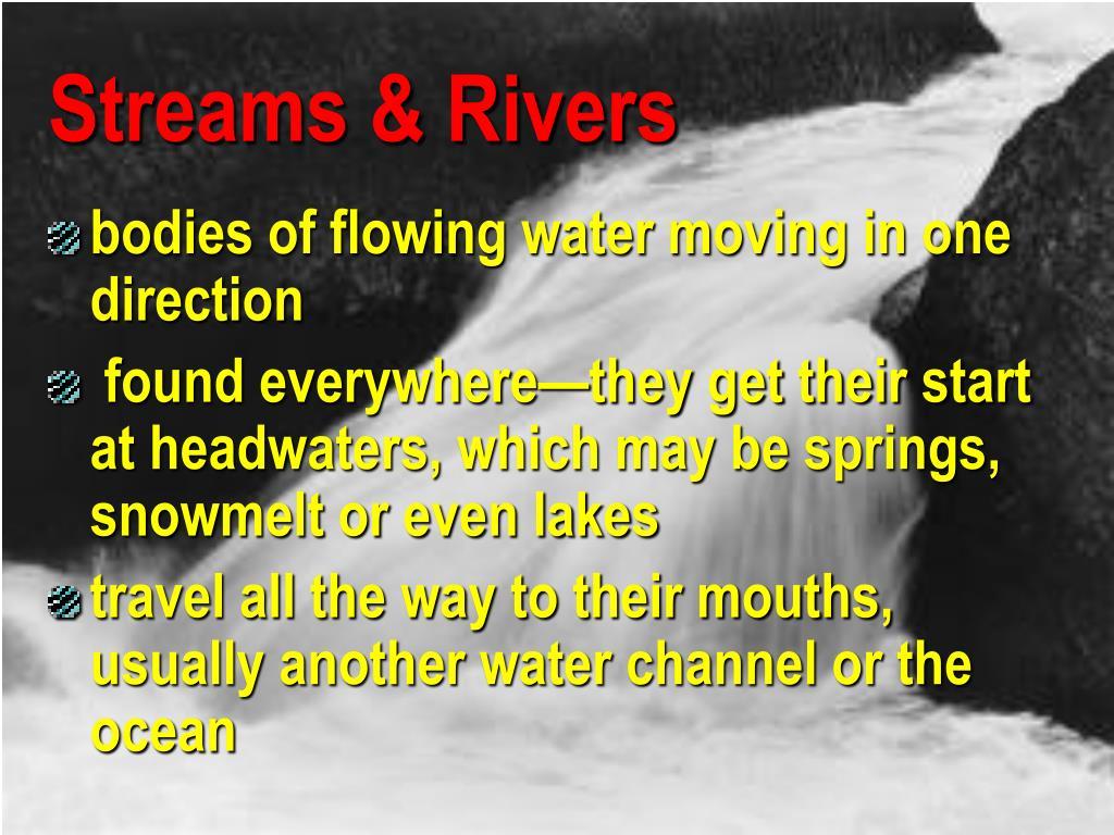 Streams & Rivers