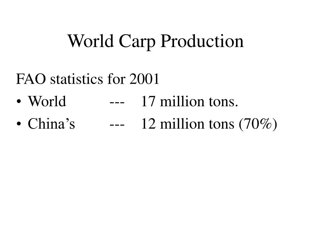 World Carp Production