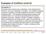 examples of conflicts cont d25