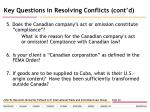 key questions in resolving conflicts cont d