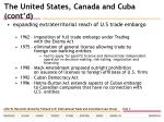 the united states canada and cuba cont d