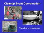 cleanup event coordination