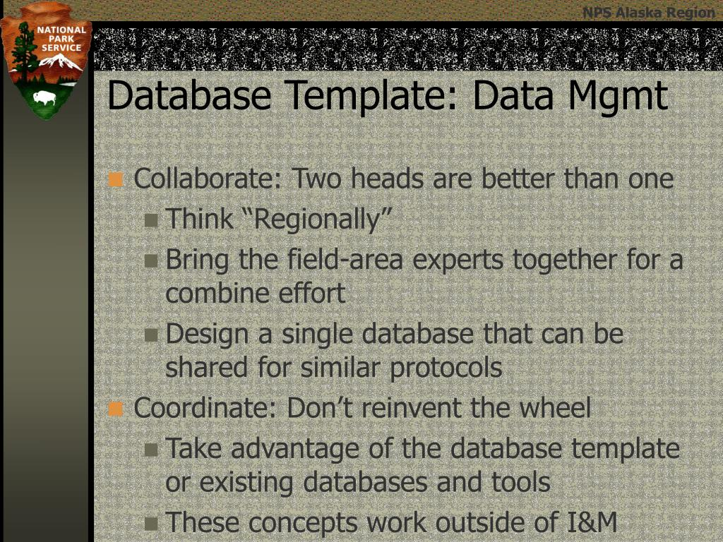 Database Template: Data Mgmt