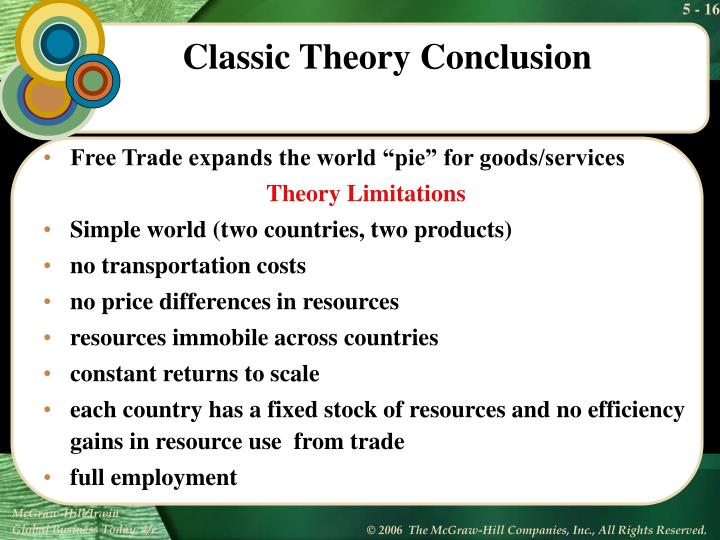 "Free Trade expands the world ""pie"" for goods/services"