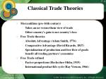 classical trade theories