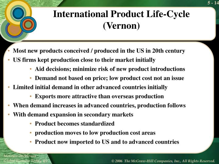 Most new products conceived / produced in the US in 20th century