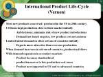 international product life cycle vernon